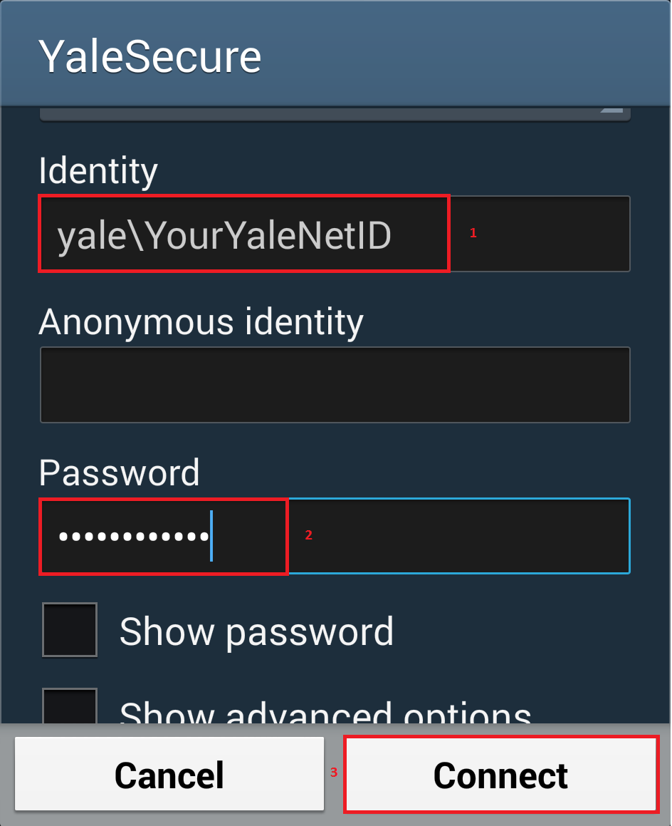 Connecting Samsung Galaxy to Yale Secure wifi - SOM IT Service